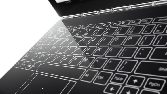 lenovo yoga book close up keyboard