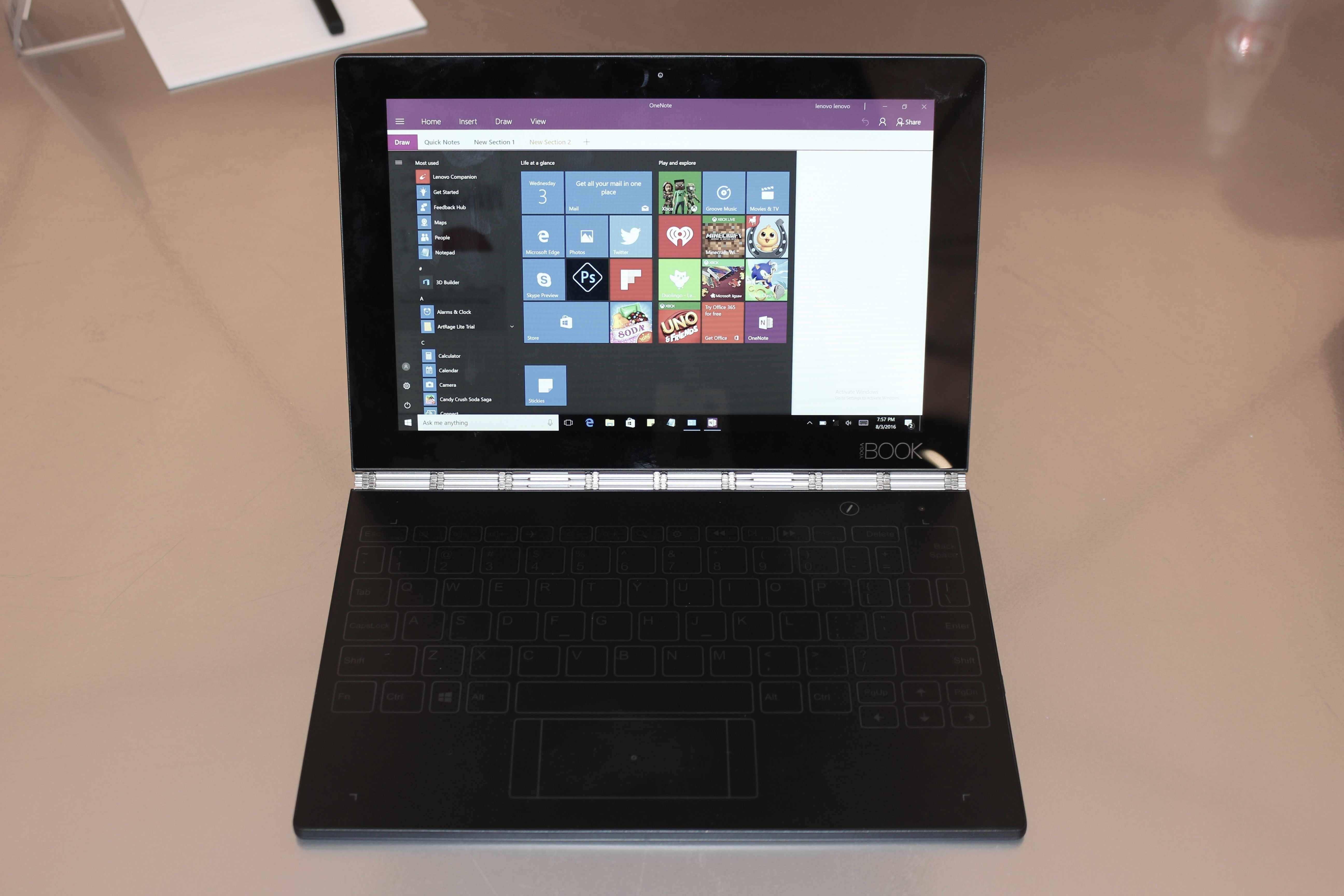 Lenovo S Yoga Book Makes It Easy To Be Creative On The Go Pcworld