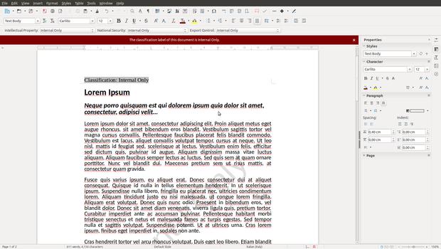 LibreOffice classification