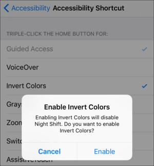 mac911 accessibility invert