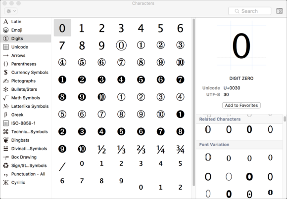 How To Find All The Characters In A Font Macworld