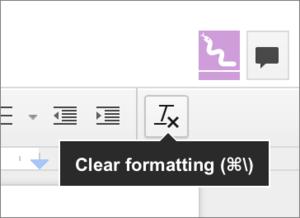 mac911 google docs clear formatting