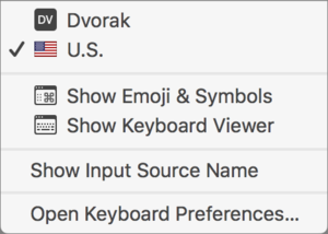 mac911 keyboard selection menu