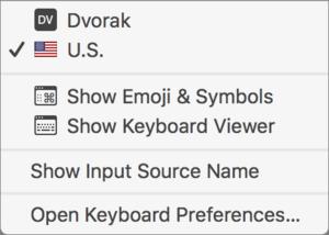 mac911 keyboard selection menu