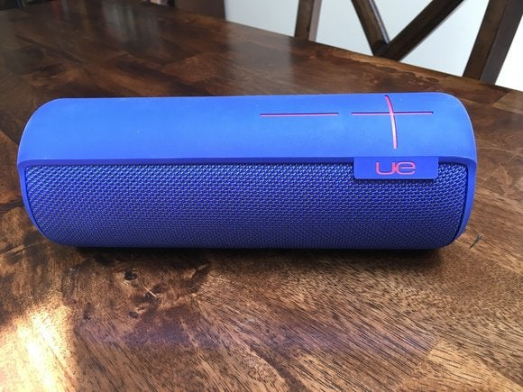 The UE Megaboom's mesh enclusure and rubber accents are IPX7 rated and can be immersed in up to one