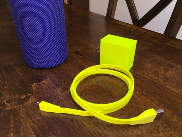 The Megaboom charges via a standard micro USB cable.