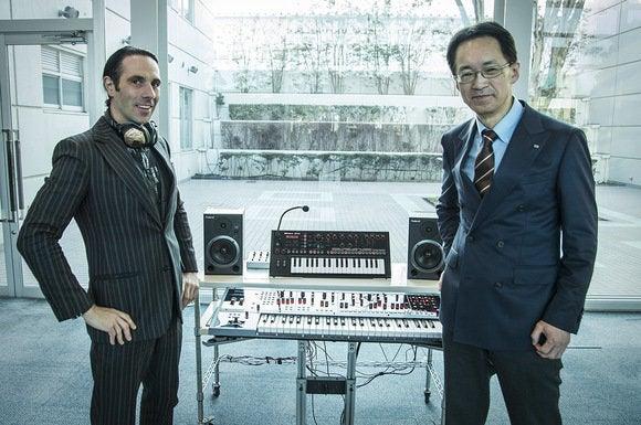 Val Kolton, V-MODA CEO, and Jun-ichi Miki, CEO of Roland.