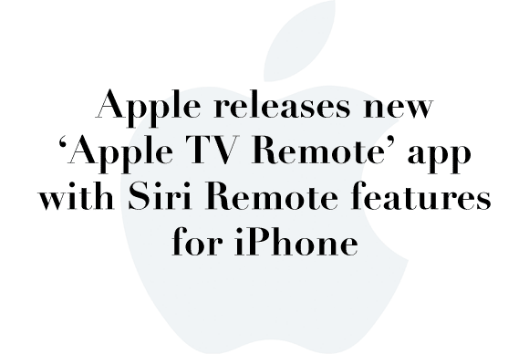 new apple remote app