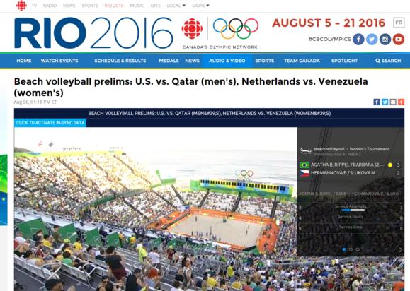 olymmpics cbc beach volleyball