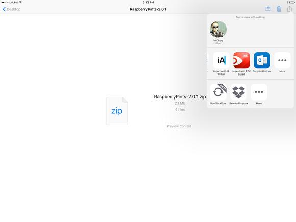 pdf expert send a zip to pdf expert