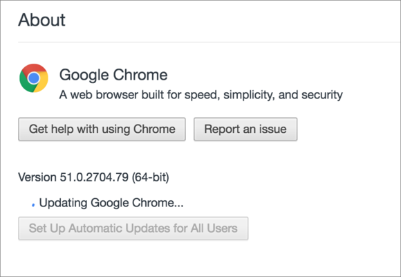 privatei chrome update section