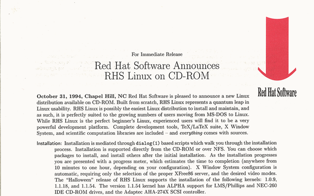 red hat linux debut