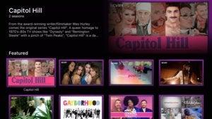 revry apple tv screenshot featured menu