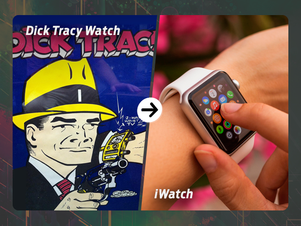 sci fi tech then now Dick Tracy watch