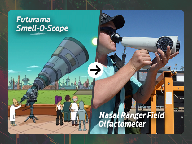 sci fi tech then now Smell-O-Scope