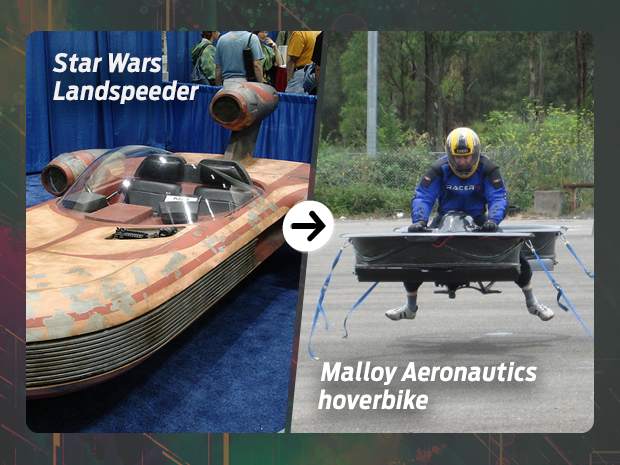 sci fi tech then now hovercraft