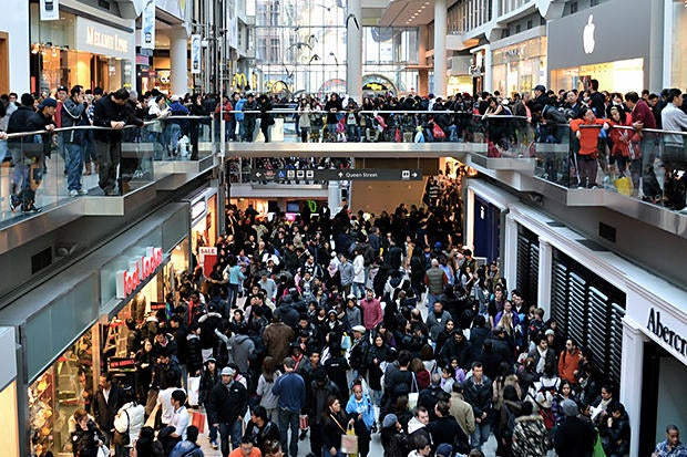 shopping mall crowd
