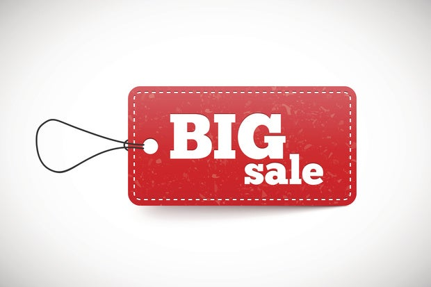 red price tag big sale