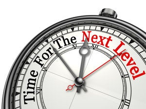 time for the next level red word on concept clock 000079339793 medium