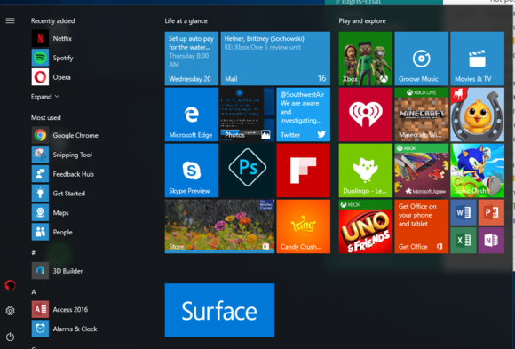 how to access windows 10 settings without start menu