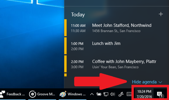 windows 10 badge notificatoins