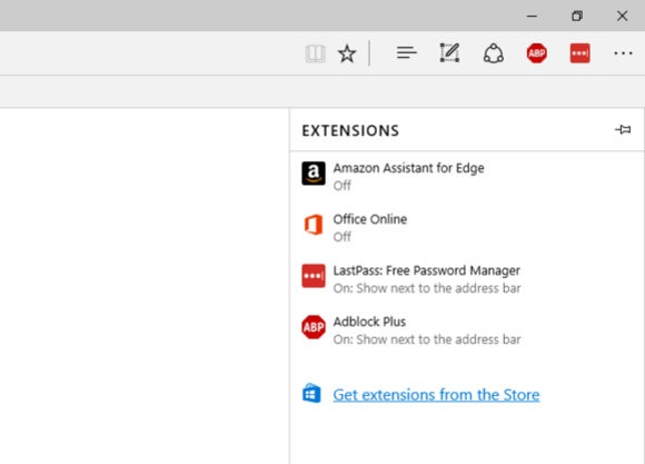 windows 10 edge extensions