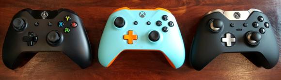Xbox One controller trio