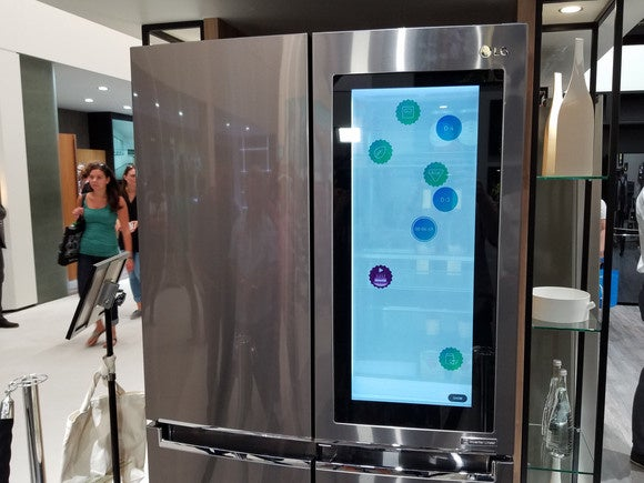 Lg S Smart Fridge Has Windows 10 On A Transparent Display