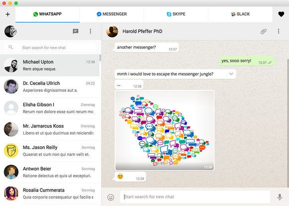 How to combine WhatsApp, Facebook Messenger, and Slack in