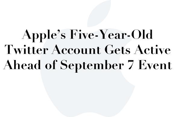 apple twitter account