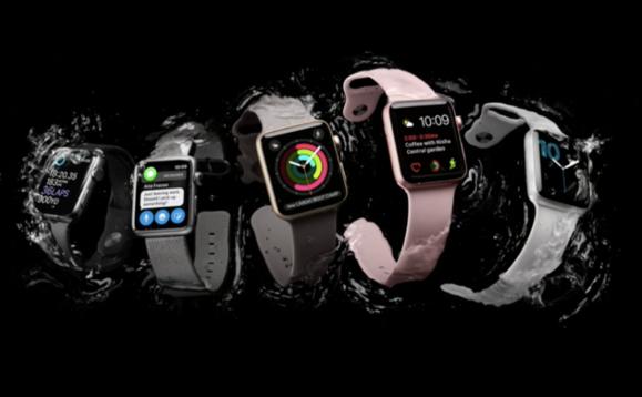 apple watch series 2 splash