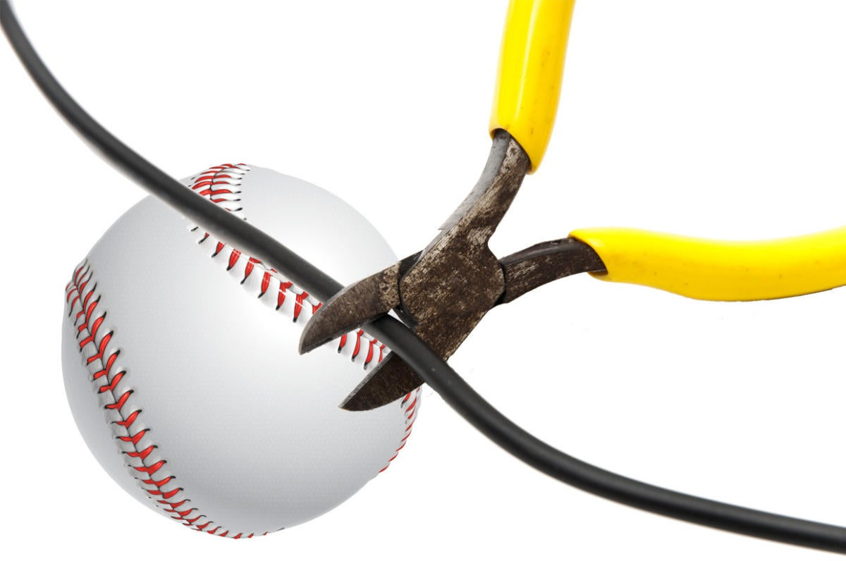 baseball cord cutting