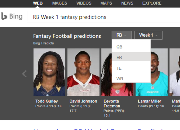 bing nfl fantasy football