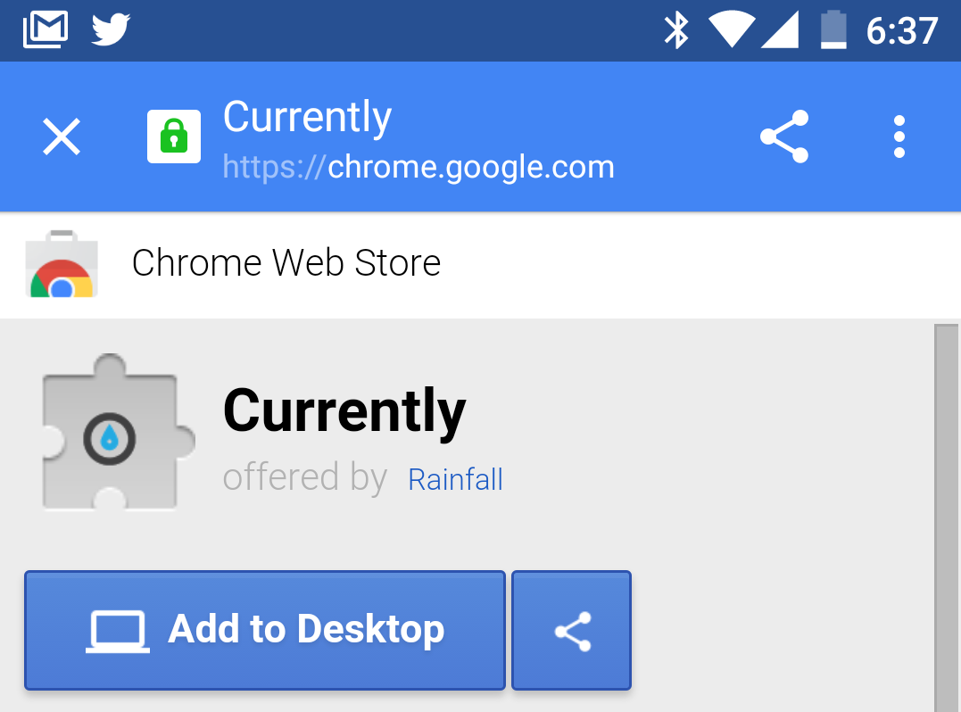 How to install a Chrome extension to your desktop from your