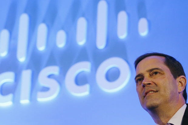 Cisco sales tick up, CEO Robbins bullish on data center, security, collaboration