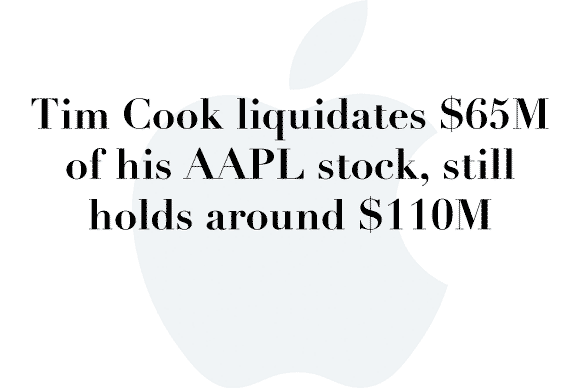 cook sells stock