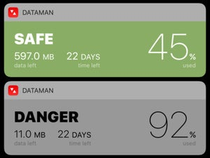dataman next ios 10 widget