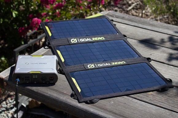 Goal Zero solar panels with battery