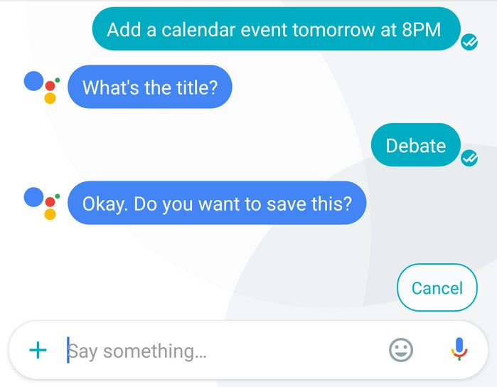 google assistant tips calendar