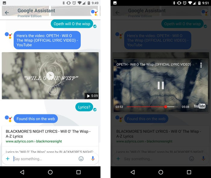 google assistant tips music videos