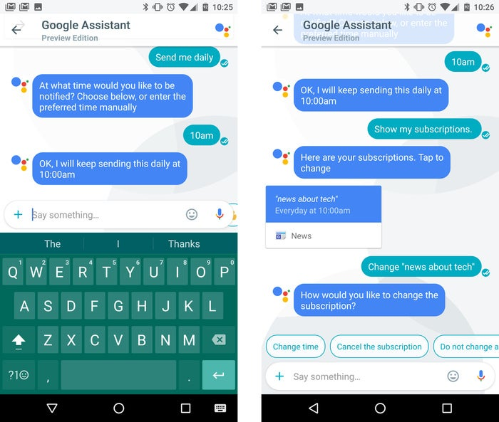 google assistant tips subscriptions