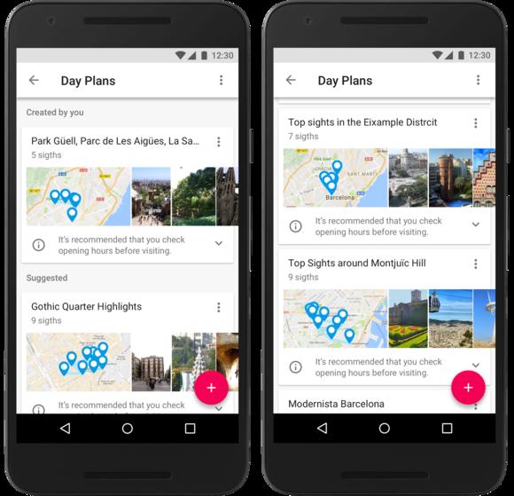 google trips plans