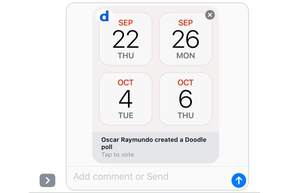 ios 10 imessage apps doodle