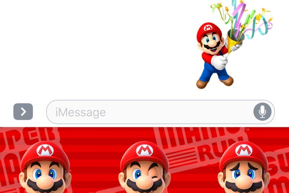 ios 10 imessage apps mario stickers
