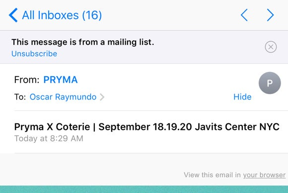 ios 10 mail unsubscribe