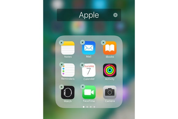 ios 10 native apps hide remove
