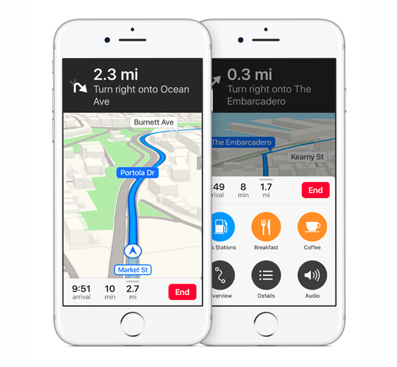 ios10 maps navigation