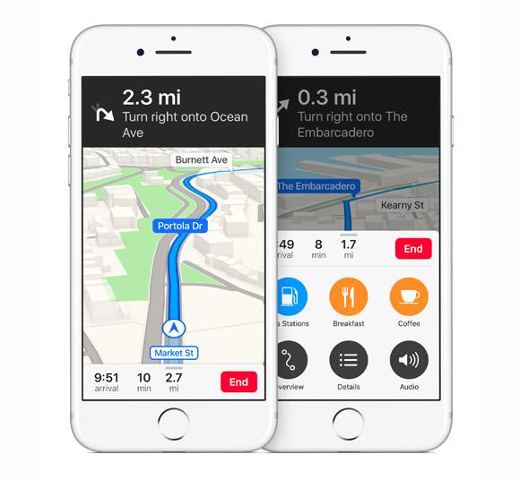 ios10 maps navigation