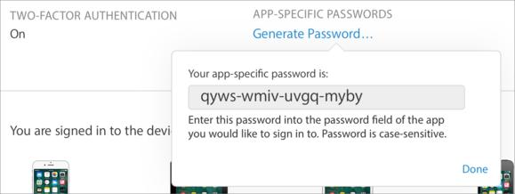 mac911 2fa app specific pwd