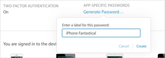 mac911 2fa name app specific pwd